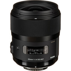 Sigma 35mm f/1.4 DG HSM Art Lens for Nikon F