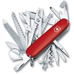 Victorinox SwissChamp Pocket Knife (Red, Clamshell Packaging)
