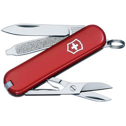 Victorinox Classic SD Pocket Knife (Red, Clamshell Packaging)