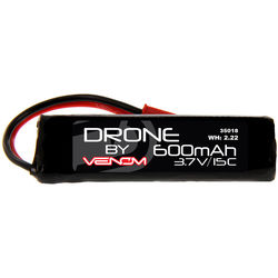Venom Group 15C 1S 600mAh LiPo Micro Drone Battery with JST Connector (3.7V)