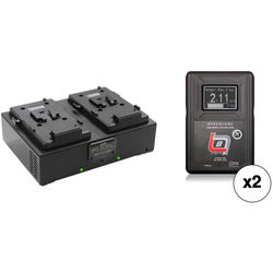 Core SWX Two HyperCore Slim HC8 RED Batteries & Fleet Dual Charger Kit (V-Mount)