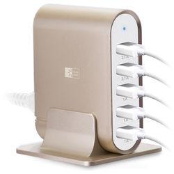 Case Logic 7.1 Amp 5 Port Universal USB Charging Station (Gold)