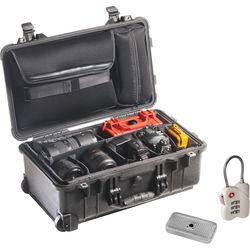 Pelican 1510SC Studio Case with Divider Set, Lid Organizer, TSA Lock, Desiccant Gel (B&H Kit)