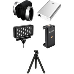 olloclip Photo Kit for iPhone 6/6s/6 Plus/6s Plus (Silver Lens with Black Clip)