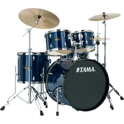 "TAMA IP52KCMNB Imperialstar 5-Piece Drum Set with Cymbals (22"" Bass Drum, Midnight Blue)"