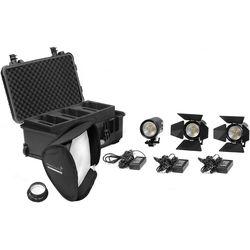 Kinotehnik 2-Practilite 602 and 1-Practilite 600 Bi-Color 3-Light LED Fresnel Kit