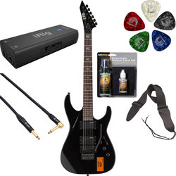 ESP ESP LTD KH-202 CAUTION Kirk Hammett Signature Series Electric Guitar Home Recording Starter Kit