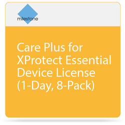 Milestone Care Plus for XProtect Essential Device License (1-Day, 8-Pack)
