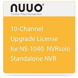 NUUO 10-Channel Upgrade License for NS-1040 NVRsolo Standalone NVR