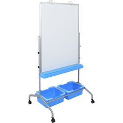 Luxor Classroom Chart Stand with Storage Bins