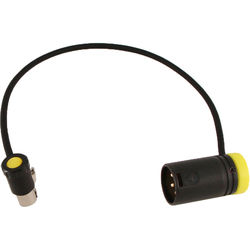 """Cable Techniques CT-LPSR3SD6X-10Y Low-Profile TA3F (Left) to XLR-3M Cable (10"""", Yellow)"""
