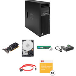 HP Z440 Series Turnkey Workstation with 32GB RAM, 4TB HDD, Quadro K1200, and 15-in-1 Media Card Reader