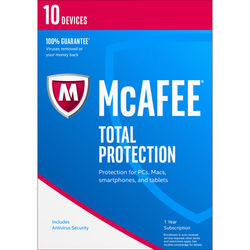 McAfee Total Protection 2017 (10 Devices, 1-Year Subscription)