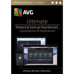 AVG Ultimate 2017 (Unlimited Devices, 2-Year License, Download)