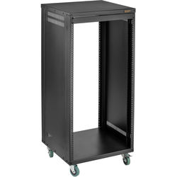 "Auray ERS- 22U Steel Equipment Rack with 3"" Casters (22 RU)"