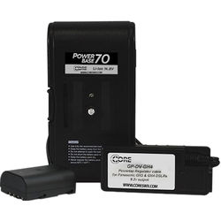 """Core SWX PowerBase 70 Battery for Panasonic GH3 & GH4 (24"""" Cable)"""