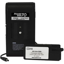 """Core SWX PowerBase 70 Battery for Canon C100, C300, C500 (24"""" Cable)"""