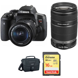 Canon EOS Rebel T6i DSLR Camera with 18-55mm and 55-250mm Lenses Kit