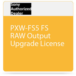 Sony PXW-FS5 FS RAW Output Upgrade License