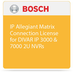 Bosch IP Allegiant Matrix Connection License for DIVAR IP 3000 & 7000 2U NVRs