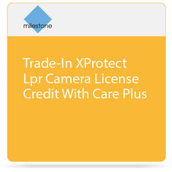 Milestone Trade-In of XProtect LPR Camera License with Care Plus