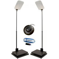 "Autocue/QTV 2x17"" Manual Conference Stand Package"