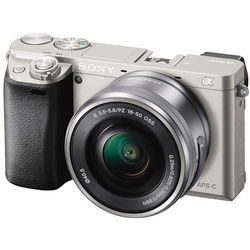 Sony Alpha a6000 Mirrorless Digital Camera with 16-50mm Lens (Silver)