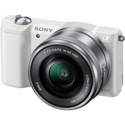 Sony Alpha a5000 Mirrorless Digital Camera with 16-50mm Lens (White)
