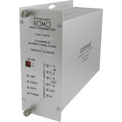 COMNET Multimode 10-Bit Digital Video & 2-Channel Bi-Directional Audio Transmitter/Data Transceiver with Contact Closure (Up to 2 mi)