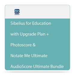 Sibelius Sibelius + Ultimate Bundle with Upgrade Plan, Photoscore & Notate Me Ultimate, and AudioScore Ultimate (Educational,Download)