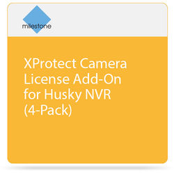 Milestone XProtect Camera License Add-On for Husky NVR (4-Pack)