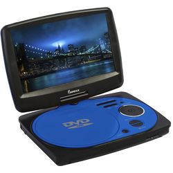 "Impecca 9"" Portable Swivel Multisystem DVD Player (Blue)"