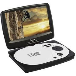 "Impecca 9"" Portable Swivel Multisystem DVD Player (White)"