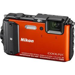 Nikon COOLPIX AW130 Waterproof Digital Camera (Orange)