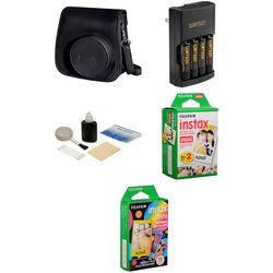 Fujifilm Camera Accessory & Film Kit for instax mini 8 Camera (Black)