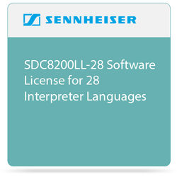 Sennheiser SDC8200LL-28 Software License for 28 Interpreter Languages