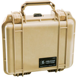 Pelican 1200 Case without Foam (Desert Tan)