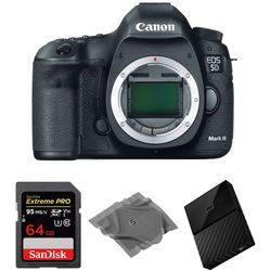 Canon EOS 5D Mark III DSLR Camera Body with Storage Kit