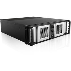 iStarUSA D Storm Series D-300SE 3U Compact Stylish Rackmountable Chassis (Silver Bezel)