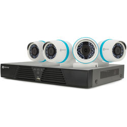 ezviz BN-1424A1 4-Channel 1080p NVR with 1TB HDD and 4 1080p Outdoor Network Bullet Cameras