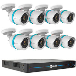ezviz BN-1G28A3 16-Channel 1080p NVR with 3TB HDD and 8 1080p Outdoor Network Bullet Cameras