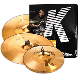"Zildjian K Custom Hybrid Cymbal Set with 14.25"" Hats, 17"" Crash, 21"" Ride"