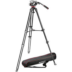 Manfrotto MVH502A Fluid Head and MVT502AM Tripod with Carrying Bag