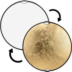 """Impact Circular Collapsible Reflector with Handles (42"""", Gold/White)"""