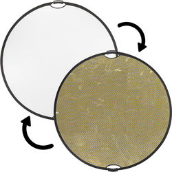 "Impact Circular Collapsible Reflector with Handles (42"", Soft Gold/White)"