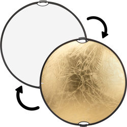 """Impact Circular Collapsible Reflector with Handles (52"""", Gold/White)"""
