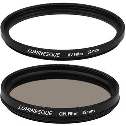 Luminesque 58mm Circular Polarizer and UV Slim PRO Filter Kit