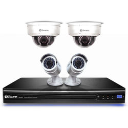Swann 8-Channel 3MP NVR with 2TB HDD and 2 3MP Bullet Cameras and 2 3MP Dome Cameras