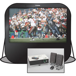"""Sima Pop-Up Projection Screen Kit with Projector, Speakers and Carry Bag (84"""")"""