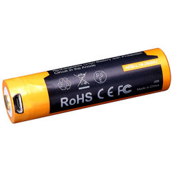 Fenix Flashlight 18650 Lithium-Ion Battery with Micro-USB Charging Port (3.6V, 2600mAh)